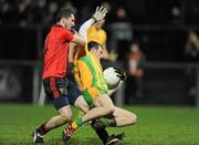 4 February 2012; Ryan Bradley, Donegal, in action against Keith Quinn, Down. Allianz Football League, Division 1, Round 1, Down v Donegal, Pairc Esler, Newry, Co. Down. Picture credit: Oliver McVeigh / SPORTSFILE