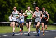 17 June 2017 The race leaders, from left, Kevin Maunsell, Peter Somba, Sean Hehir, William Maunsell and Mark Keneally approaching the 2 mile marker during Irish Runner 5 Mile at the Phoenix Park in Dublin. Photo by Sam Barnes/Sportsfile