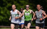 17 June 2017; Eventual winner Kevin Maunsell, left, with Sean Hehir and William Maunsell approaching the 2 mile marker during Irish Runner 5 Mile at the Phoenix Park in Dublin. Photo by Sam Barnes/Sportsfile