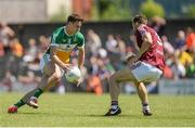 17 June 2017; Niall McNamee of Offaly in action against Kevin Maguire of Westmeath during the Leinster GAA Football Senior Championship Quarter-Final Replay match between Westmeath and Offaly at TEG Cusack Park in Mullingar, Co Westmeath. Photo by Piaras Ó Mídheach/Sportsfile