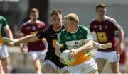 17 June 2017; Niall Darby of Offaly in action against Darren Quinn of Westmeath during the Leinster GAA Football Senior Championship Quarter-Final Replay match between Westmeath and Offaly at TEG Cusack Park in Mullingar, Co Westmeath. Photo by Piaras Ó Mídheach/Sportsfile