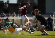 17 June 2017; Darren Quinn of Westmeath, supported by team-mate Frank Boyle, in action against Graham Gilfoyle of Offaly during the Leinster GAA Football Senior Championship Quarter-Final Replay match between Westmeath and Offaly at TEG Cusack Park in Mullingar, Co Westmeath. Photo by Piaras Ó Mídheach/Sportsfile