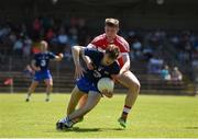 17 June 2017; Fearghal O'Cuirrín of Waterford in action against Michael McEvoy of Derry during the GAA Football All-Ireland Senior Championship Round 1A match between Waterford and Derry at Fraher Field in Dungarvan, Co Waterford. Photo by Eóin Noonan/Sportsfile