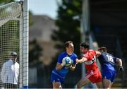 17 June 2017; Stephen Enright of Waterford in action against Danny Heavron of Derry during the GAA Football All-Ireland Senior Championship Round 1A match between Waterford and Derry at Fraher Field in Dungarvan, Co Waterford. Photo by Eóin Noonan/Sportsfile