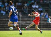 17 June 2017; Danny Heavron of Derry scoring his sides first goal during the GAA Football All-Ireland Senior Championship Round 1A match between Waterford and Derry at Fraher Field in Dungarvan, Co Waterford. Photo by Eóin Noonan/Sportsfile