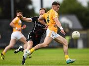 17 June 2017; Mark Sweeney of Antrim in action against Charlie Harrison of Sligo during the GAA Football All-Ireland Senior Championship Round 1A match between Sligo and Antrim at Markievicz Park in Sligo. Photo by Seb Daly/Sportsfile