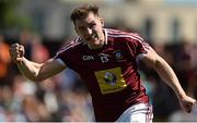 17 June 2017; Kieran Martin of Westmeath celebrates scoring his side's third goal during the Leinster GAA Football Senior Championship Quarter-Final Replay match between Westmeath and Offaly at TEG Cusack Park in Mullingar, Co Westmeath. Photo by Piaras Ó Mídheach/Sportsfile