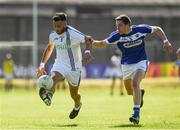 17 June 2017; Darren Hayden of Wicklow  in action against Damien O'Connor of Laois during the GAA Football All-Ireland Senior Championship Round 1A match between Wicklow and Laois at Joule Park in Aughrim, Co Wicklow. Photo by Ray McManus/Sportsfile