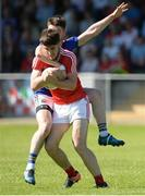 17 June 2017; Patrick Reilly of Louth in action against Robbie Smyth of Longford during the GAA Football All-Ireland Senior Championship Round 1A match between Louth and Longford at the Gaelic Grounds in Drogheda, Co Louth. Photo by Oliver McVeigh/Sportsfile
