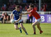 17 June 2017; Liam Connerton of Longford of Louth in action against James Stewart of Louth during the GAA Football All-Ireland Senior Championship Round 1A match between Louth and Longford at the Gaelic Grounds in Drogheda, Co Louth. Photo by Oliver McVeigh/Sportsfile