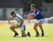 17 June 2017; Paul Cunningham of Wicklow in action against Stephen Attride of Laois during the GAA Football All-Ireland Senior Championship Round 1A match between Wicklow and Laois at Joule Park in Aughrim, Co Wicklow. Photo by Ray McManus/Sportsfile
