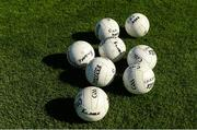 17 June 2017; Kildare footballs on the pitch before the Leinster GAA Football Senior Championship Semi-Final match between Meath and Kildare at Bord na Móna O'Connor Park in Tullamore, Co Offaly. Photo by Piaras Ó Mídheach/Sportsfile