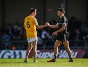 17 June 2017; Niall Delargy of Antrim and Niall Murphy of Sligo shake hands following the GAA Football All-Ireland Senior Championship Round 1A match between Sligo and Antrim at Markievicz Park in Sligo. Photo by Seb Daly/Sportsfile