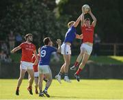 17 June 2017; Tommy Durnin of Louth in action against John Keegan of Longford Championship Round 1A match between Louth and Longford at the Gaelic Grounds in Drogheda, Co Louth. Photo by Oliver McVeigh/Sportsfile