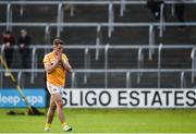 17 June 2017; Mark Sweeney of Antrim leaves the field after being shown a black card during the GAA Football All-Ireland Senior Championship Round 1A match between Sligo and Antrim at Markievicz Park in Sligo. Photo by Seb Daly/Sportsfile