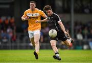17 June 2017; Stephen Coen of Sligo attempts to kick a point during the GAA Football All-Ireland Senior Championship Round 1A match between Sligo and Antrim at Markievicz Park in Sligo. Photo by Seb Daly/Sportsfile