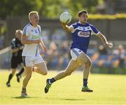 17 June 2017; Ambrose Doran of Laois in action against Mark Kenny of Wicklow during the GAA Football All-Ireland Senior Championship Round 1A match between Wicklow and Laois at Joule Park in Aughrim, Co Wicklow. Photo by Ray McManus/Sportsfile