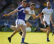 17 June 2017; Donal Kingston of Laois shoots past Brendan Kennedy of Wicklow to score his side's second goal during the GAA Football All-Ireland Senior Championship Round 1A match between Wicklow and Laois at Joule Park in Aughrim, Co Wicklow. Photo by Ray McManus/Sportsfile