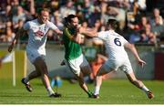 17 June 2017; Cillian O'Sullivan of Meath in action against Eoin Doyle, right, and Tommy Moolick of Kildare during the Leinster GAA Football Senior Championship Semi-Final match between Meath and Kildare at Bord na Móna O'Connor Park in Tullamore, Co Offaly. Photo by Piaras Ó Mídheach/Sportsfile