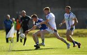 17 June 2017; Niall Donoher of Laois in action against John Crowe and Dean Healy, right, of Wicklow during the GAA Football All-Ireland Senior Championship Round 1A match between Wicklow and Laois at Joule Park in Aughrim, Co Wicklow. Photo by Ray McManus/Sportsfile