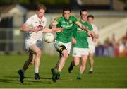 17 June 2017; Daniel Flynn of Kildare in action against Donnacha Tobin of Meath during the Leinster GAA Football Senior Championship Semi-Final match between Meath and Kildare at Bord na Móna O'Connor Park in Tullamore, Co Offaly. Photo by Piaras Ó Mídheach/Sportsfile