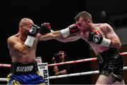17 June 2017; Paddy Barnes, right, in action against Silvio Olteanu during their WBO European flyweight title bout at the Battle of Belfast Fight Night at the Waterfront Hall in Belfast. Photo by Ramsey Cardy/Sportsfile