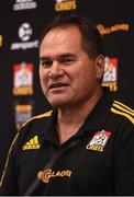 18 June 2017; Chiefs head coach Dave Rennie during a press conference in Hamilton, New Zealand. Photo by Stephen McCarthy/Sportsfile