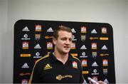 18 June 2017; Michael Allardice during a Chiefs press conference in Hamilton, New Zealand. Photo by Stephen McCarthy/Sportsfile