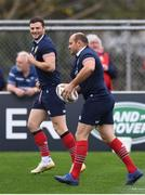 18 June 2017; Rory Best and Robbie Henshaw, right, during a British and Irish Lions training session at Beetham Park in Hamilton, New Zealand. Photo by Stephen McCarthy/Sportsfile