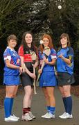 6 February 2012; In attendance at the launch of the Ashbourne, Purcell and Fr. Meachair Cup Competitions are, from left, Katie Power, Piltown, Kilkenny and Waterford Institute of Technology, Mairi Ni Mhuineachain, Lucan Sarsfields and Trinity College, Collette Dormer, Paulstown, Kilkenny and Waterford Institute of Technology and Laura Twomey, Naomh Mearnog and Dublin City University. The weekend will be hosted by Waterford Institute of Technology on the 18th and 19th of February. Dublin City University, Glasnevin, Dublin. Picture credit: Paul Mohan / SPORTSFILE