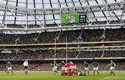 5 February 2012; A general view of the Aviva Stadium during the game. RBS Six Nations Rugby Championship, Ireland v Wales, Aviva Stadium, Lansdowne Road, Dublin. Picture credit: Stephen McCarthy / SPORTSFILE