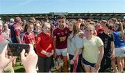 17 June 2017; Paul Sharry of Westmeath poses for photographs with supporters after the Leinster GAA Football Senior Championship Quarter-Final Replay match between Westmeath and Offaly at TEG Cusack Park in Mullingar, Co Westmeath. Photo by Piaras Ó Mídheach/Sportsfile