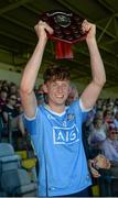 18 June 2017; Dublin captain Mark Grogan lifts the trophy following his side's victory during the Leinster U17 Hurling Championship Final match between Dublin and Kilkenny at O'Moore Park in Portlaoise, Co Laoise Photo by Seb Daly/Sportsfile