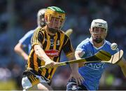 18 June 2017; Ciarán Brennan of Kilkenny in action against Lee Gannon of Dublin during the Leinster U17 Hurling Championship Final match between Dublin and Kilkenny at O'Moore Park in Portlaoise, Co Laoise Photo by Seb Daly/Sportsfile