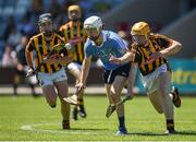 18 June 2017; Lee Gannon of Dublin in action against Diarmuid Phelan of Kilkenny during the Leinster U17 Hurling Championship Final match between Dublin and Kilkenny at O'Moore Park in Portlaoise, Co Laoise Photo by Seb Daly/Sportsfile