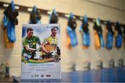 18 June 2017; General view of the Roscommon dressing room before the Connacht GAA Football Senior Championship Semi-Final match between Roscommon and Leitrim at Dr Hyde Park in Roscommon. Photo by David Maher/Sportsfile