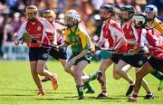 18 June 2017; Zoe Katus of Knockananna, Co. Wicklow in action against Windgap, Co. Kilkenny during the Division 7 Camogie Final. At the John West Féile na nGael national competition which took place this weekend across Carlow, Kilkenny and Waterford. This is the second year that the Féile na nGael and Féile Peile na nÓg have been sponsored by John West, one of the world's leading suppliers of fish. The competition gives up-and-coming GAA superstars the chance to participate and play in their respective Féile tournament, at a level which suits their age, skills and strengths. Photo by Matt Browne/Sportsfile