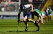 18 June 2017; John Paul Lucey of Waterford in action against Jack O'Grady of Limerick during the Munster GAA Under 25 Reserve Hurling Competition Final match between Limerick and Waterford at Semple Stadium in Thurles, Co. Tipperary. Photo by Piaras Ó Mídheach/Sportsfile