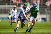 18 June 2017; Conor O'Grady of Limerick in action against Conor Morrissey of Waterford during the Munster GAA Under 25 Reserve Hurling Competition Final match between Limerick and Waterford at Semple Stadium in Thurles, Co. Tipperary. Photo by Piaras Ó Mídheach/Sportsfile
