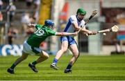 18 June 2017; Dermot Ryan of Waterford in action against Conor O'Grady of Limerick during the Munster GAA Under 25 Reserve Hurling Competition Final match between Limerick and Waterford at Semple Stadium in Thurles, Co. Tipperary. Photo by Piaras Ó Mídheach/Sportsfile