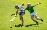 18 June 2017; Peter Hogan of Waterford in action against Sean Hogan of Limerick during the Munster GAA Under 25 Reserve Hurling Competition Final match between Limerick and Waterford at Semple Stadium in Thurles, Co. Tipperary. Photo by Piaras Ó Mídheach/Sportsfile