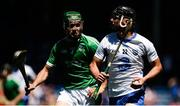 18 June 2017; John Paul Lucey of Waterford in action against Luke Doran of Limerick during the Munster GAA Under 25 Reserve Hurling Competition Final match between Limerick and Waterford at Semple Stadium in Thurles, Co. Tipperary. Photo by Piaras Ó Mídheach/Sportsfile