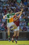 18 June 2017; Ben Conneely of Offaly in action against Conor Whelan of Galway during the Leinster GAA Hurling Senior Championship Semi-Final match between Galway and Offaly at O'Moore Park in Portlaoise, Co Laois. Photo by Seb Daly/Sportsfile