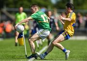 18 June 2017; Keith Beirne of Leitrim in action against of Gary Patterson of Roscommon during the Connacht GAA Football Senior Championship Semi-Final match between Roscommon and Leitrim at Dr Hyde Park in Roscommon. Photo by David Maher/Sportsfile