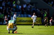 18 June 2017; Seán Gardiner of Offaly reacts following his side's defeat during the Leinster GAA Hurling Senior Championship Semi-Final match between Galway and Offaly at O'Moore Park in Portlaoise, Co Laois. Photo by Seb Daly/Sportsfile