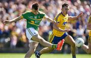 18 June 2017; Darragh Rooney of Leitrim shoots to score his side's first goal during the Connacht GAA Football Senior Championship Semi-Final match between Roscommon and Leitrim at Dr Hyde Park in Roscommon. Photo by David Maher/Sportsfile