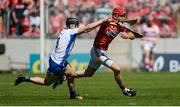 18 June 2017; Bill Cooper of Cork in action against Jamie Barron of Waterford during the Munster GAA Hurling Senior Championship Semi-Final match between Waterford and Cork at Semple Stadium in Thurles, Co Tipperary.  Photo by Piaras Ó Mídheach/Sportsfile