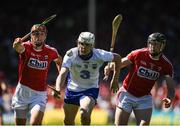 18 June 2017; Shane Bennett of Waterford in action against Stephen McDonnell, left, and Barry Coughlan of Waterford during the Munster GAA Hurling Senior Championship Semi-Final match between Waterford and Cork at Semple Stadium in Thurles, Co Tipperary.  Photo by Ray McManus/Sportsfile