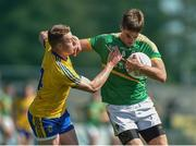 18 June 2017; Shane Moran of Leitrim in action against of Niall McInerney of Roscommon during the Connacht GAA Football Senior Championship Semi-Final match between Roscommon and Leitrim at Dr Hyde Park in Roscommon. Photo by David Maher/Sportsfile