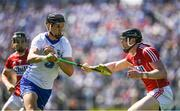 18 June 2017; Maurice Shanahan of Waterford in action against DamienCahalane of Cork during the Munster GAA Hurling Senior Championship Semi-Final match between Waterford and Cork at Semple Stadium in Thurles, Co Tipperary.  Photo by Ray McManus/Sportsfile